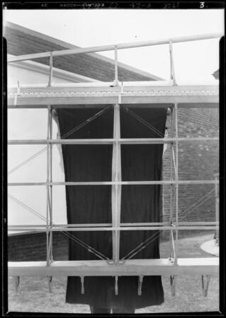 Aeroplane wing shell & fuselage, Southern California, 1928