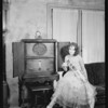 Edna Acelin and radio, Southern California, 1928