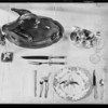Thanksgiving table setting, Southern California, 1929