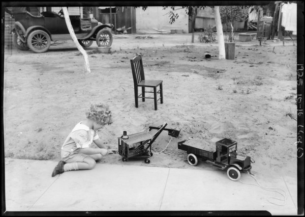 Kids with toys, Southern California, 1925