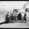 Ruth Eder and party at Rogers Airport, Los Angeles, CA, 1928