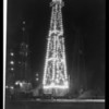 Christmas oil well, General Petroleum Co., Southern California, 1930
