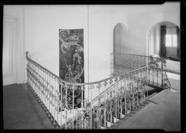 Wall hangings in home at 333 South McCadden Place, Los Angeles, CA, 1930