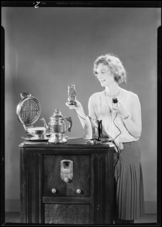 Electric appliances turned off by Radio Owl, Southern California, 1930
