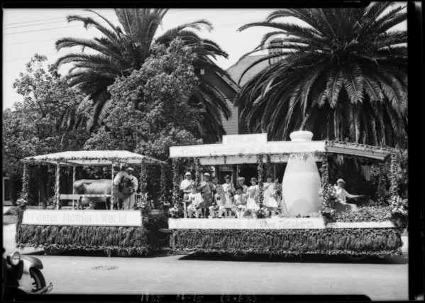 Float in civic parade, Southern California, 1925