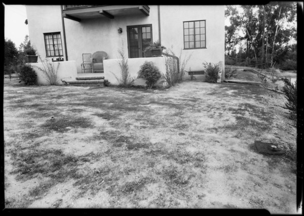 Grass that failed to grow, Southern California, 1925