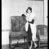 Natalie Kingston and radio, Southern California, 1928