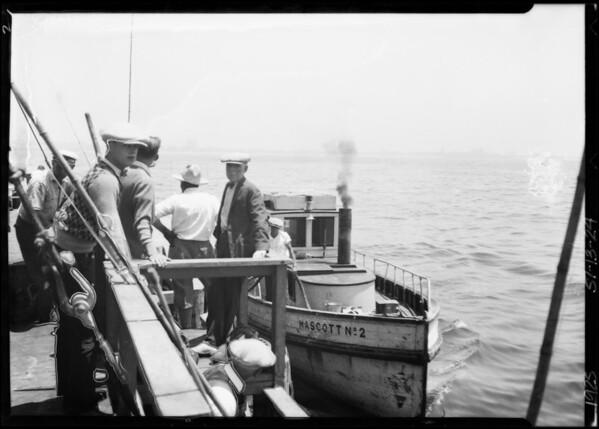 Fishing barge at Venice, Los Angeles, CA, 1925