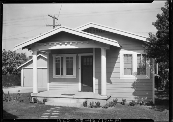 Homes with Broadway window shades, Southern California, 1925