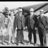Departure of party to Mexico, Southern California, 1928
