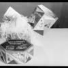 Van de Kamp Christmas pudding boxes, Southern California, 1929
