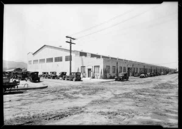 Offices & exterior of building, Maddux Airlines, Southern California, 1929