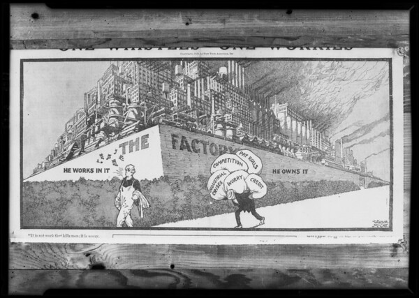 Copy of drawing in Los Angeles Examiner, Southern California, 1928