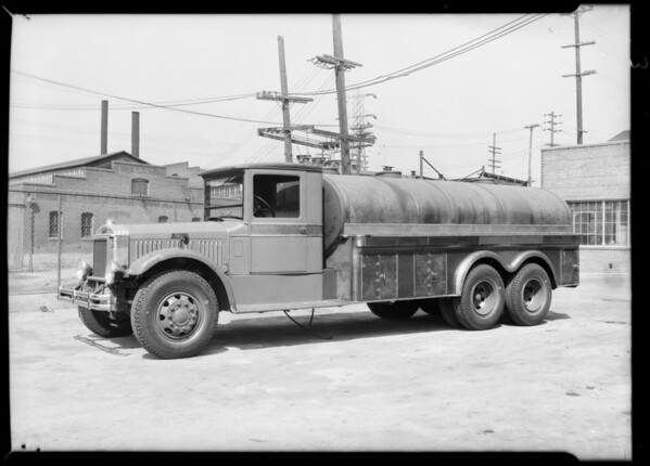 Oil truck, Southern California, 1931