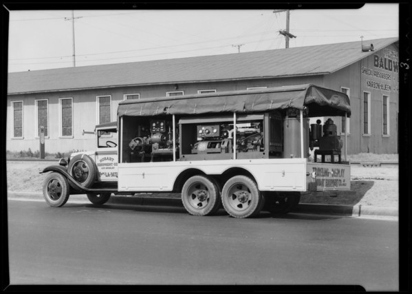Hobart Equipment Co. truck, Southern California, 1931