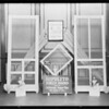 Window display of screens, Hipolito Screen Company, Southern California, 1928