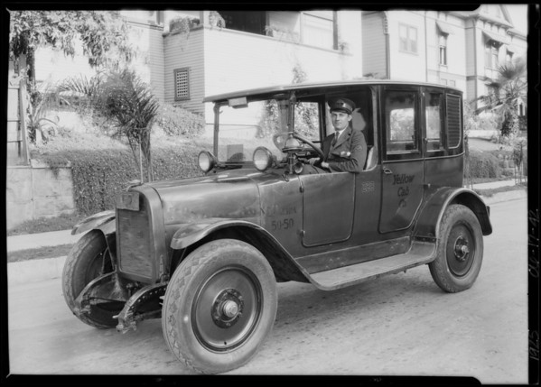Yellow Taxi Driver, Southern California, 1925