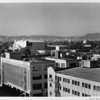 Looking east-northeast from the roof of a warehouse toward the Shrine Auditorium, Los Angeles