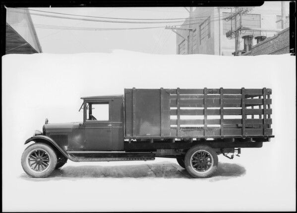 Chevrolet truck, Southern California, 1927