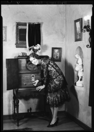 June Collyer in her home, Southern California, 1928
