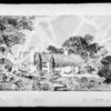 Drawing of residence of Dr. Van Wart, Southern California, 1931