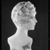 Hair dress on wax figure, May Co., Southern California, 1930