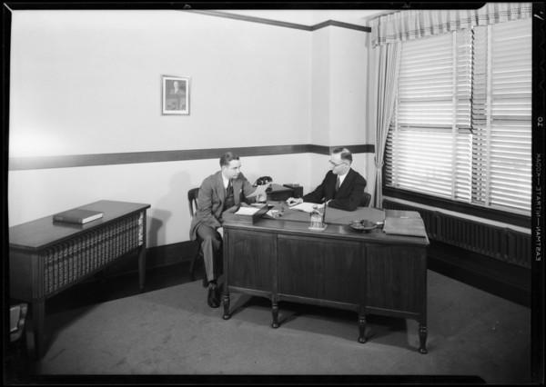 Office interiors, J. Walter Thompson Co., Southern California, 1931