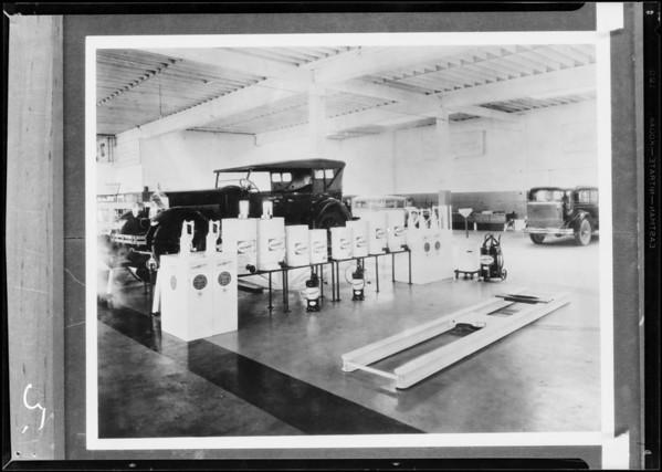 Pennzoil grease racks, Southern California, 1931