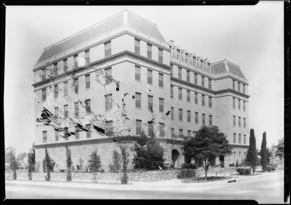 New apartment building at Northwest corner of West 9th Street and South Serrano Avenue, Los Angeles, CA, 1928