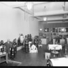 Banquet and store interior and 2 close ups, Southern California, 1928