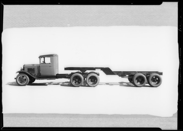 Chevy tractor type trailer, Southern California, 1931