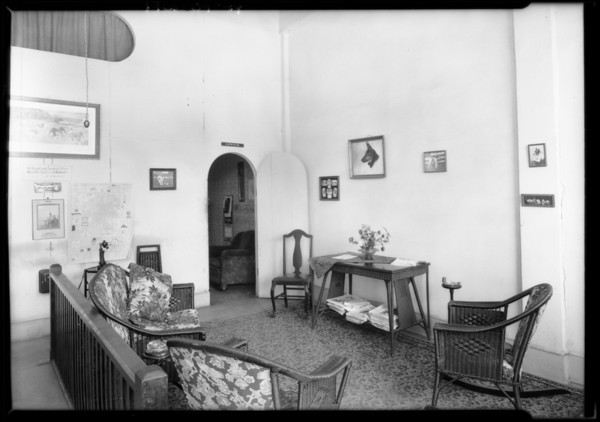 636 North Western Avenue, Dr. Scott's office, Los Angeles, CA, 1925