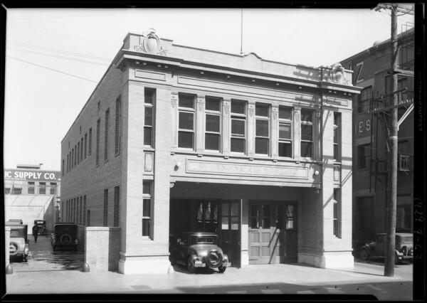 Fire station, East 7th Street & South Santa Fe Avenue, Los Angeles, CA, 1929