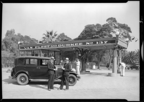 Van Fleet and Durkee station, West 7th Street and South Park View Street, Los Angeles, CA, 1929