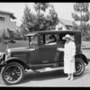 Women with automobile, Southern California, 1925