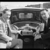 Ralph Hepburn and Pennzoil car, Southern California, 1930