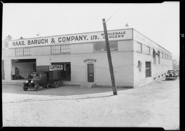 San Bernardino branch office, Haas-Baruch, Southern California, 1931