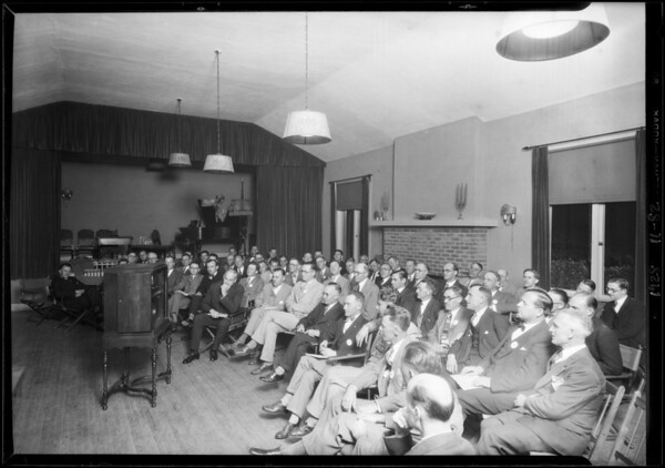 Orpheus club and radio, Southern California, 1928
