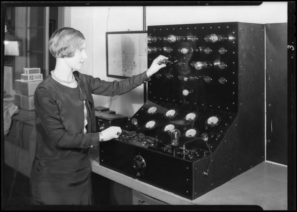 Tube testing machine, Atwater Kent Radio, Southern California, 1930