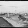 Sidewalk at West 54th Street and Angeles Mesa Drive [Crenshaw Boulevard], Los Angeles, CA, 1928