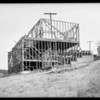 Construction of houses at Highland Villa Park, Southern California, 1925