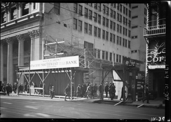 Pacific-Southwest Trust & Savings Bank - new building, Southern California, 1924