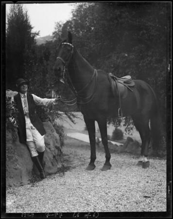 Miss Moss at Santa Monica Riding Academy, Southern California, 1928