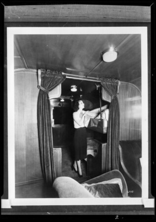 Interior of bus, White Co., Southern California, 1931