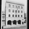 Copy of print of fire hall, South Hill Street and West 2nd Street, Los Angeles, CA, 1929