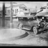 Car & curb, West 7th Street and South Westlake Avenue, Los Angeles, CA, 1928