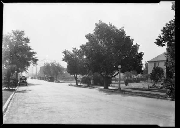 North Fairfax Avenue and Norton Avenue, West Hollywood, CA, 1929