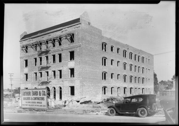 Apartment building on South Hobart Boulevard near San Marino Street, Los Angeles, CA, 1928