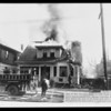 House on fire with lettering, 1330 South Los Angeles Street, Los Angeles, CA, 1930
