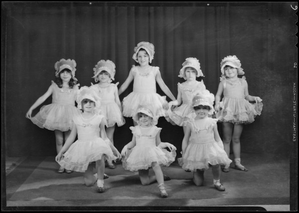 Children in dance poses, Pollard School of the Dance, Southern California, 1931